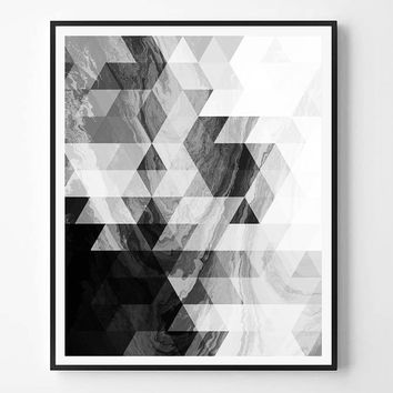 Geometric Print, Modern Minimalist Print, Black and White abstract, Printable wall art, Instant Download, Minimal Print, Scandinavian print