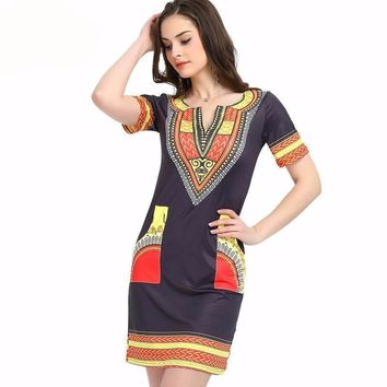 dresses for women Vintage Dress Casual Print Ladies Indian Dresses Plus Size Women Clothing