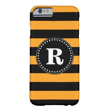 Black and orange stripes pattern barely there iPhone 6 case