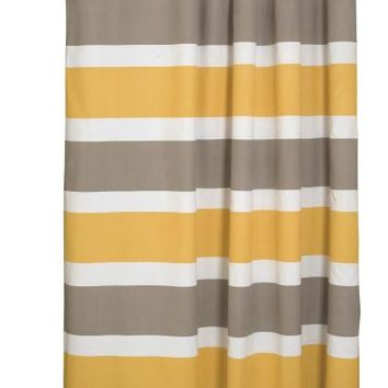 Danica Studio Even Stripe Shower Curtain