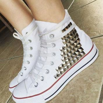 DCCKGQ8 custom converse studded high tops chuck taylors all sizes colors studded chucks