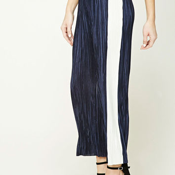 Stripe Accordion Pleated Pants