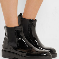 Prada - Patent-leather Chelsea boots