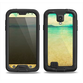 The Vintage Vibrant Beach Scene Samsung Galaxy S4 LifeProof Fre Case Skin Set