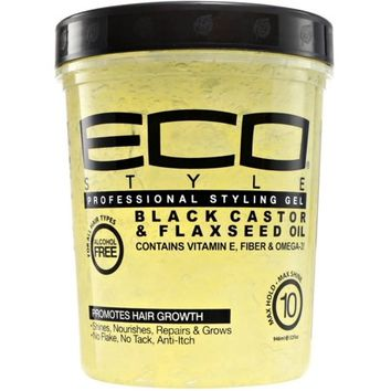 ECO Styler Black Castor & Flaxseed Oil Gel 32 oz - Walmart.com