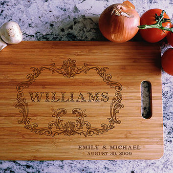 kikb521 Personalized Cutting Board Wood wooden wedding gift anniversary date name family