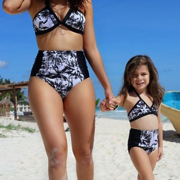 Baby Girls High Waist & Halter Swimsuit Set