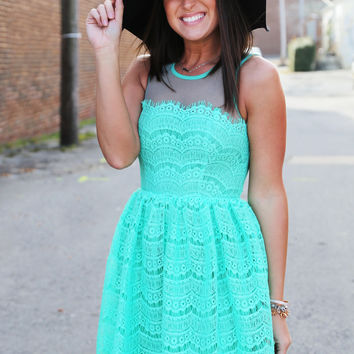 Lucky Girl In Lace {Mint}