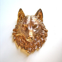 Faux Taxidermy Wolf Head: Willem the Wolf