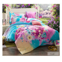 Cotton Active floral printing Quilt Duvet Sheet Cover Sets 2.0M/2.2M Bed Size 50