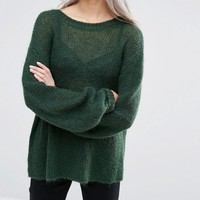 Weekday Fine Knit Jumper with Balloon Sleeve