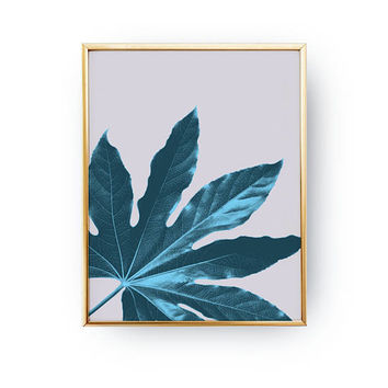 Aralia Leaf Print, Tropical Art Print, Floral Wall Decor, Herb Plant, Flower Decor, Boho Desert, Modern Prints, Botanical Poster, Boho Art
