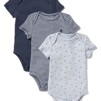 Favorite starry short sleeve bodysuit (3-pack)|gap