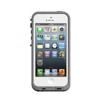 LifeProof FRE iPhone 5 Waterproof Case - Retail Packaging - WHITE/GREY