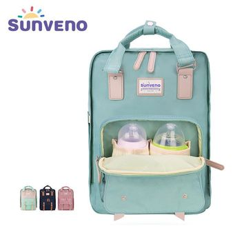 SUNVENO Designer Diaper Bags Multifunctional Backpack Large Capacity Multicolor Nappy Bag Fashion Mother Maternity Bag