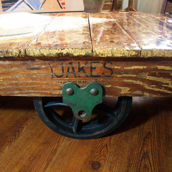 SALVAGED WOOD TABLE Vintage Industrial From ACES FINDS VINTAGE