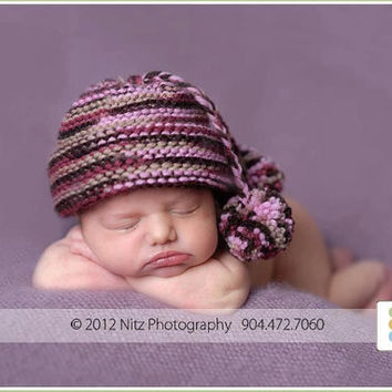 Newborn Hats Newborn Girl Hat Knit Newborn Hat by knoodleknits