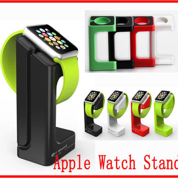 For apple watch magnetic charge dock charge stander holder For apple watch E7 stand Lazy Bracket mini for apple watch with Retail package