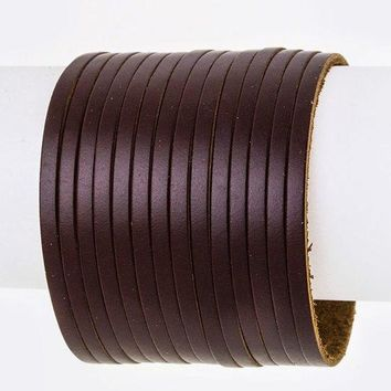 Fine Lines Leather Cuff