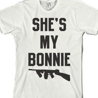 She's My Bonnie-Unisex White T-Shirt