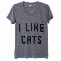 I Like Cats T-Shirt (Select Size)
