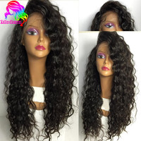 Deep Wave Wig Brazilian Full Lace Wigs With Baby Hair