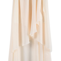 Apricot Asymmetrical High Low Chiffon Skirt - Sheinside.com