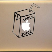 Apple Juice Box ORIGINAL Design Macbook Vinyl Decal MAC Sticker | MakeItMineDesigns - Techcraft on ArtFire