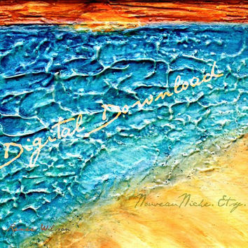 Printable Art, Ocean Painting, Seascape, Digital Download