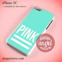Pink Blue Victoria's Secret Phone case for iPhone 5C and another iPhone devices