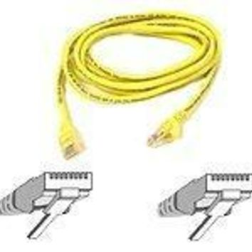 Belkin Components 5ft Cat5e Snagless Patch Cable, Utp, Yellow Pvc Jacket, 24awg, T568b, 50 Micron,