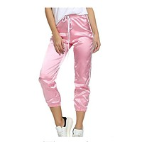PERI Satin Fitted Pants