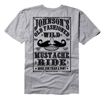 Johnson's old fashioned wild mustache ride - beard tee shirt