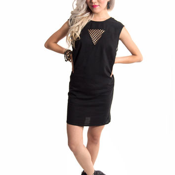 BOTB by Hellz Bellz Vendetta Black Cut Out Mini Dress