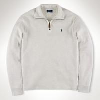 FRENCH-RIB HALF-ZIP PULLOVER