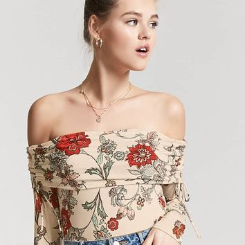 Floral Off-the-Shoulder Bodysuit