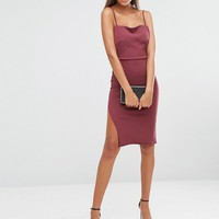 Missguided Tall Backless Strappy Midi Dress at asos.com