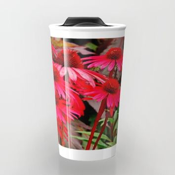 Echinacea flower Travel Mug by Jessica Ivy