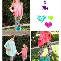 Mommy Black and White Paisley Leggings - Ryleigh Rue Clothing by MVB