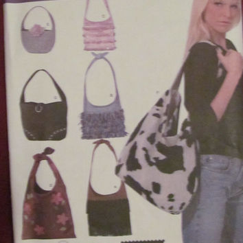 Uncut Simplicity Sewing Pattern, 4117! Handbags/Purses/Elaine Heigl Designs/Women's/Accessories/6 Styles/Arts and Crafts