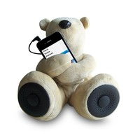 Teddy Bear Stereo Speakers Portable Speaker for iPod iPhone iPad MP3(3 Colors) (Brown)
