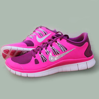 Rhinestone Crystal Swoosh Nikes (SHOES INCLUDED)