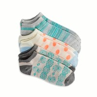 AEO Women's Printed Sock 3-pack (Light Blue)