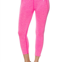 Hot Pink Premium Activewear Seamless Capri Leggings