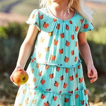 Mini Boden 'Frill Twirly' Tiered Dress (Toddler Girls, Little Girls & Big Girls) | Nordstrom