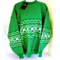 Emerald Isle Men's Sweater Green XXL