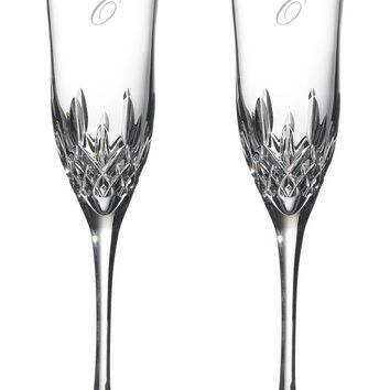 Waterford Lismore Essence Set of 2 Monogram Lead Crystal Champagne Flutes | Nordstrom