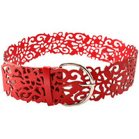 Hollow Out Flower Red Waist Belt [ABTX0020] - $18.99 :