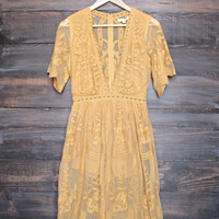 as you wish embroidered lace maxi dress (women) - chloe yellow