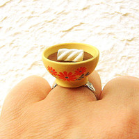 Kawaii Cute Japanese Ring Chocolate Pudding by SouZouCreations